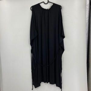 Ulla Johnson Black Tunic Silk Dress w Belt